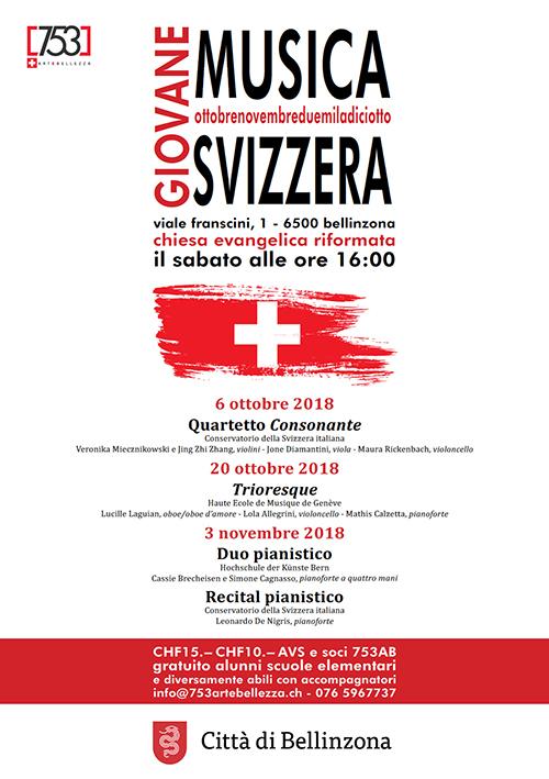 GIOVANE MUSICA SVIZZERA 2018